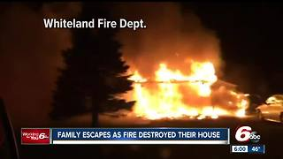 Whiteland mother credits working smoke detectors with saving her family after their home caught fire - Video
