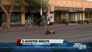 Tucson City Council members clash on e-scooters