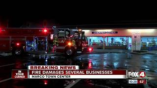 Fire damages several businesses in Marco Town Center - Video