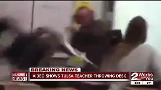 TPS teacher throws desk in class - Video