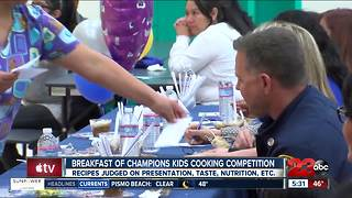 Elementary school students compete in annual cooking battle - Video