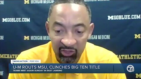 "Isaiah Livers after Michigan clinches Big Ten: ""I want the natty"""