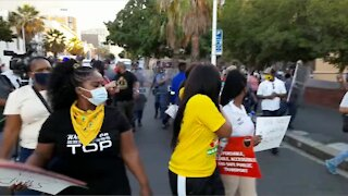 Protest outside Parliament during SONA 2021