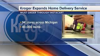 Kroger expanding home delivery service - Video