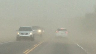 RAW VIDEO: Driving through dust in West Valley - Video