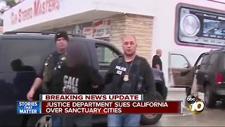 Justice Department sues California over sanctuary cities - Video