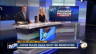 Judge rules DACA must be reinstated - Video