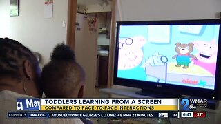 Toddlers Learning From A Screen