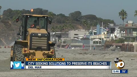 Del Mar seeks solutions to preserve beach