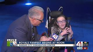 Fans wait in line for Royals FanFest - Video