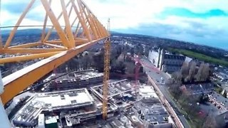 See Dublin From a Spinning Crane - Video