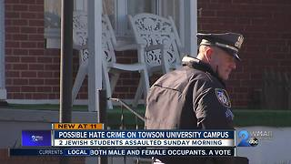 Towson University investigating possible hate crime against two Jewish students