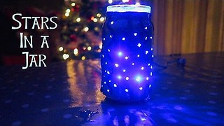 DIY Christmas Night Light: Stars In A Jar