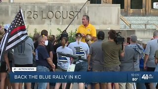 Back the Blue rally in KC