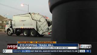 Another viewer receives eye-popping trash bill
