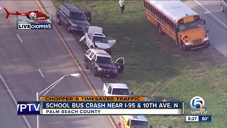 Palm Beach County School district bus involved in I-95 wreck - Video