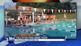 Fallston Fins Swim Team says Good Morning Maryland