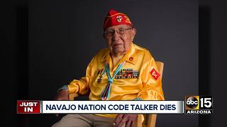 Navajo Code Talker Dies at 94 - Video