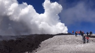 Dramatic Explosion at Mount Etna Injures Ten - Video