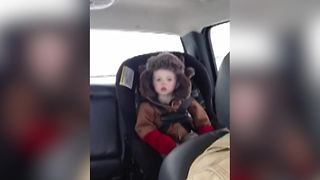 Backseat Sleeper | Little Dude Tries To Stay Awake For Dad