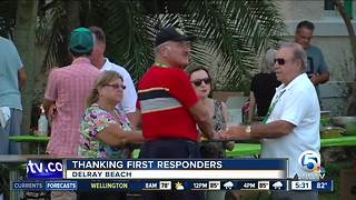 Free concert held in Delray Beach for first responders after Hurricane Irma - Video