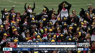 Penguin people: 972 people wear penguin costumes to break record - Video