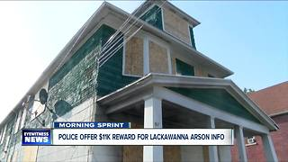 $11,000 reward in Lackawanna arson case - Video
