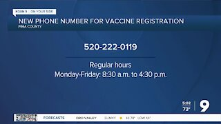 Pima County issues new phone number for COVID-19 vaccination registration