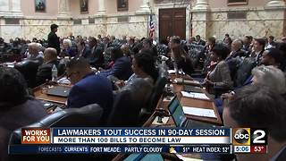 More than 100 bills to become law after 90-day session - Video