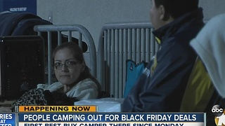 People camping out for Black Friday deals - Video