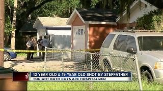12-year-old & 19-year-old shot by stepfather - Video