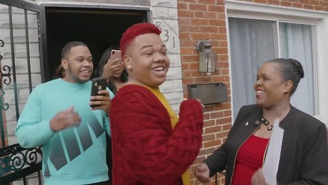 Baltimore student gets in person acceptance celebration from the University of Maryland