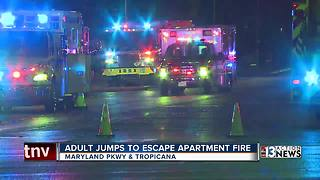 Man jumps to escape apartment fire