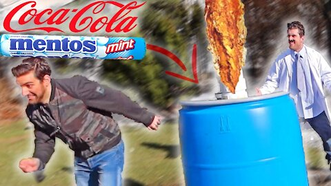WORLD'S BIGGEST COKE AND MENTOS *GONE WRONG*