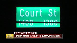 Serious single-vehicle crash under investigation in Clearwater - Video