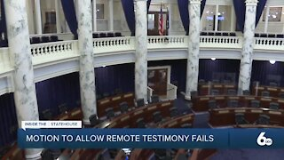 Idaho House Rejects Motion to Allow Remote Testimony