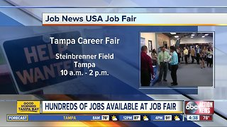 Companies looking to hire participating in job fair at Steinbrenner Field on Wednesday, October 17