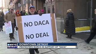Daca protesters hit the streets in Detroit - Video