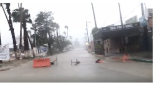 Floods Swamp Streets of San Jose del Cabo as Tropical Storm Lidia Sweeps Closer - Video