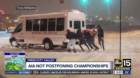 Parents upset with AIA for decision to continue tournament in Prescott Valley