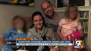 Downtown shooting victim shares her story - Video