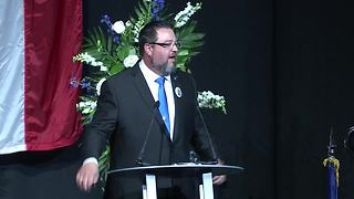 Dr. Holland delivers the eulogy at Southport Lt. Aaron Allan's funeral - Video