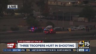Multiple first responders injured during shooting on I-17 - Video