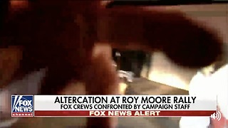 Physical Altercation At Roy Moore Event With Fox News Cameras - Video