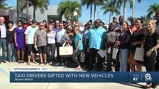 Taxi drivers gifted with new vehicles