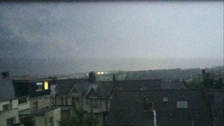 Lightning Strike Hits Chimney of House in Plymouth - Video