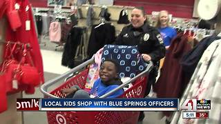 Local kids shop with Blue Springs officers - Video