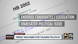 Arizona lawmaker proposes bill to outlaw political activity in the classroom