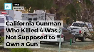 California Gunman Who Killed 4 Was Not Supposed to Own a Gun - Video