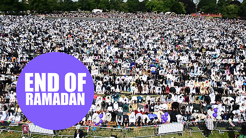 Muslims from around the world gathered in Birmingham for the largest Eid celebration